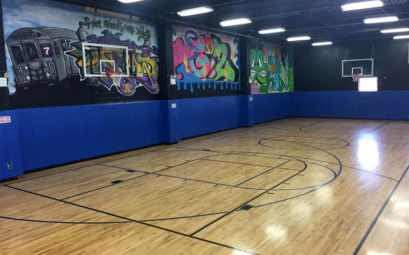 Additional Basketball half court at Artistic Stitch Sports Complex in Queens, NY.